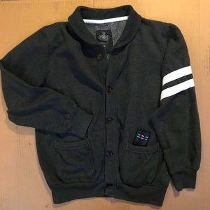 Express Men's Varsity Stipe Sweatshirt Cardigan